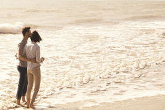 Couple  watching the beauty of the surrounding nature Royalty Free Stock Photography