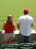 Couple Watching Game Royalty Free Stock Photos