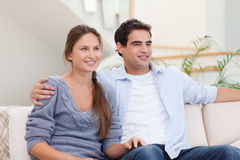 Couple watching a movie Stock Photography