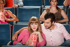 Couple Watching A Movie Stock Images