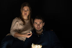 Couple watching movie Royalty Free Stock Image