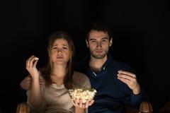 Couple watching movie Stock Photos