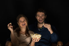 Couple watching movie Royalty Free Stock Images