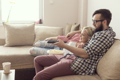 Couple watching a movie Royalty Free Stock Photo