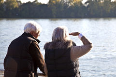 Couple watching the nature at Stock Photo