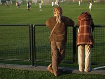 Couple Watching Soccer Game royalty free stock photos
