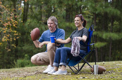 Couple watching sports Stock Photos