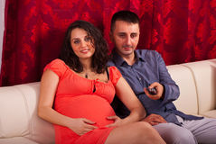 Couple watching tv Royalty Free Stock Photo