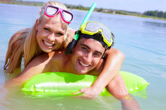 Couple in water Royalty Free Stock Photos