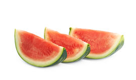 Couple watermelon slices isolated Royalty Free Stock Images