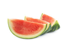Couple watermelon slices isolated Royalty Free Stock Photos
