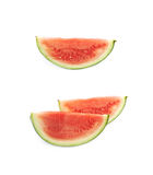 Couple watermelon slices isolated Stock Photography
