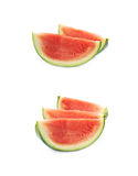 Couple watermelon slices isolated Royalty Free Stock Photo