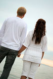 Couple wathing the sunset Royalty Free Stock Images
