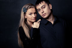 Couple wearing black Stock Images