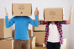 We hate unpacking! Royalty Free Stock Images