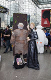 Couple wearing costumes at NY Comic Con Royalty Free Stock Image