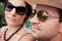 Couple wearing sunglasses Royalty Free Stock Photography