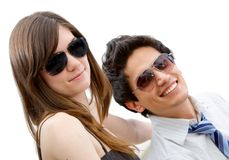 Couple wearing sunglasses Stock Photography