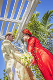 Couple wearing Vietnamese Ao Dai