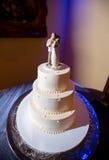 Couple on a wedding cake Royalty Free Stock Image