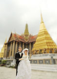 Couple wedding doll in thai temple Royalty Free Stock Images