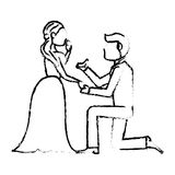 Couple wedding love image sketch Stock Photography