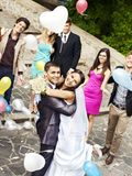 Couple at wedding outdoor. Stock Photo