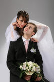 Couple wedding portrait Royalty Free Stock Photos
