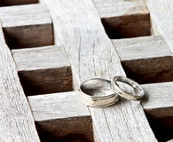 A couple of wedding rings Stock Photos