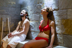 Couple in wellness spa Stock Photo