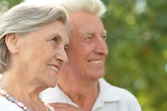 Couple went for a walk Stock Photography