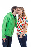 Couple whispering Royalty Free Stock Photos