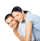 Couple, on white Royalty Free Stock Photo