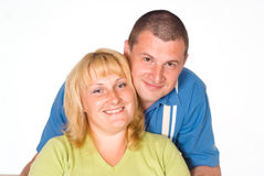Couple on white Stock Image
