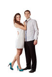 Couple on white background Royalty Free Stock Photography