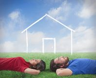 Couple who dream of a home Royalty Free Stock Photos