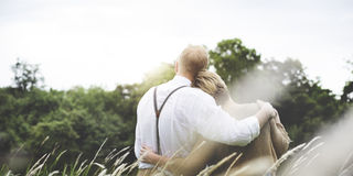 Couple Wife Husband Dating Relaxation Love Concept Royalty Free Stock Image