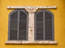Couple windows in old style designed Royalty Free Stock Photography