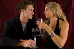 Couple wine Stock Photography