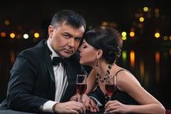 Couple with wine Stock Photos