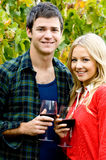 Couple With Wine royalty free stock photo