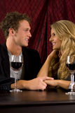 Couple wine Royalty Free Stock Photo