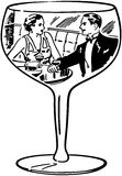 Couple In Wine Glass Stock Images