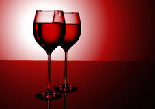 Couple of wine glasses Royalty Free Stock Photography