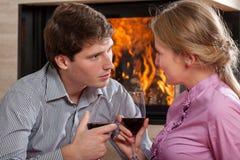 Couple wine toast Stock Image