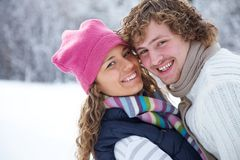 Couple in winter Stock Image