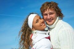 Couple in winter Stock Photos