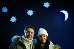 Couple in winter Stock Photos