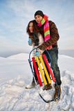 Couple in a winter clothes Stock Photo